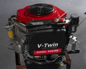 25HP Air-Cooled Twin Cylinder Vertical Shaft Diesel Engine