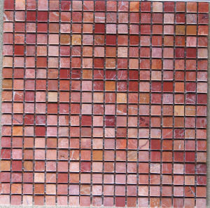 Red Stone Marble Mosaic Tile (HSM125) pictures & photos