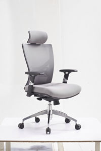 Grey Mesh Desk Chair with Lumbar Support pictures & photos