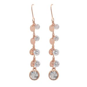 High Quality Rose Gold Plated Fashion Crystal Earring (33HH3063)