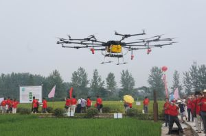 Electric Multiple Unmanned Gyroplane Sprayer
