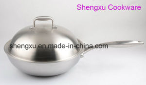 18/10 Stainless Steel Cookware Chinese Wok Cooking (SX-WO32-24) pictures & photos
