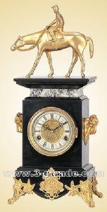 Marble & Casting-Copper Clock (JGP14A)