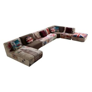 Literature Art Style Modern Design Living Room Fabric Sofa (F868) pictures & photos