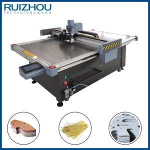 CNC Oscillating Knife Genuine Leather Cutting Machine-2 pictures & photos