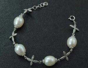 925 Silver Jewelry + Freshwater Pear Bracelet (WSTPA00663)