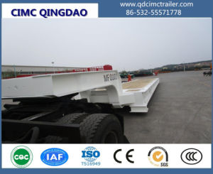 Cimc 120 Ton Goosenec Flatbed Containerk Mafi Roll Roll Trailer Truck Chassis pictures & photos