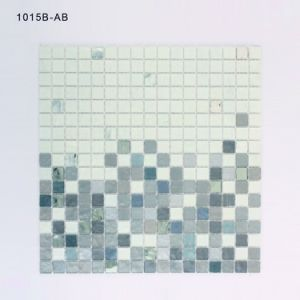 Grey and White Backsplash Tile Building Materials Stained Glass Mosaic pictures & photos