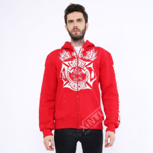 Wholesale fashion Zipper Offset Printing Hoodies pictures & photos