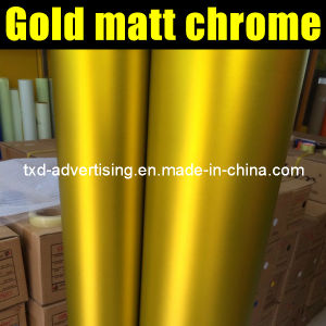 New Color Golden Matt Chrome Sticker for Car Wrap