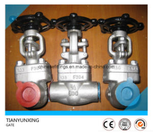 Socket Weld End Forged Stainless Steel Gate Valves pictures & photos
