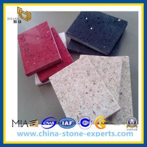 Sparkle Galaxy Resin Stone Floor Tile Artificial Quartz Stone (YQZ-QS1002) pictures & photos
