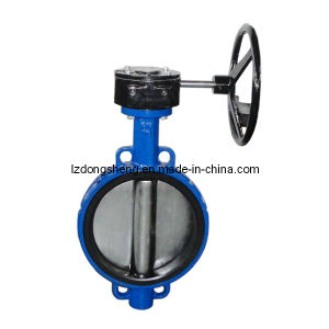 Dn300 Wafer Butterfly Valve with Manual Operation pictures & photos