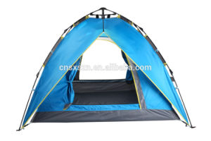 Automatic Double Layers Outdoor Hiking Camping Tent with PU coating pictures & photos