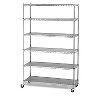 High Quality Chrome Plated 6 Layers Wire Shelving pictures & photos