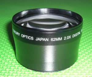 62mm 2.0x Tele Conversion Lens with Low-Dispersion Optical Glass