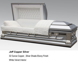 Jeff Copper Silver Casket
