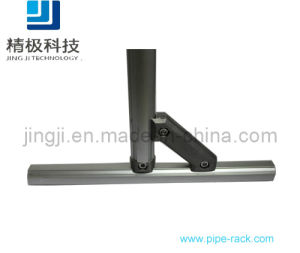Two Side 45 Degree Aluminum Tubing Joints Slivery Anodic Oxidation Treatment (AL-4)