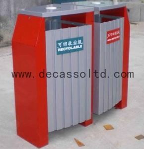 Two Compartment Sortable Outdoor Trash Bin (DL33) pictures & photos