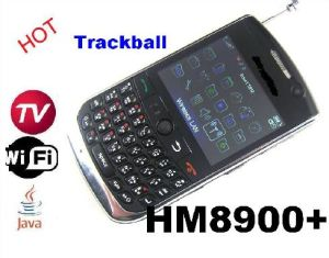 Quad Band WiFi Java TV Phone With Trackball Qwerty Greek (HM8900+)
