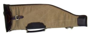 Canvas and Top Quality Genuine Leather Rifle Slip (HS212CA)