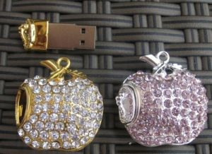 Apple Jewelry USB Disk, Necklace Pendant USB Flash Drive