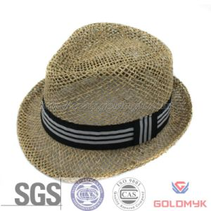 Different Sizes Seagrass Straw Fedora Hat with Band (GKA03-A00004) pictures & photos