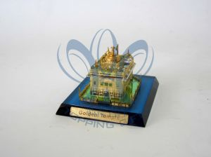 Golden Temple (Crystal And Gold Model) Small