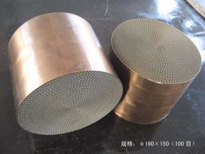 Metal Honeycomb Substrate Catalytic Converter for Auto/Motorcycle pictures & photos