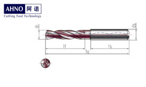 Solid Carbide Twist Drill Bit With Inner Coolant