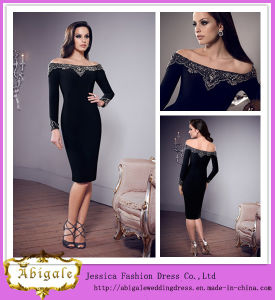Charming Sheath off The Shoulder Knee Length Long Sleeve Mother of The Bride Dresses (HS081)