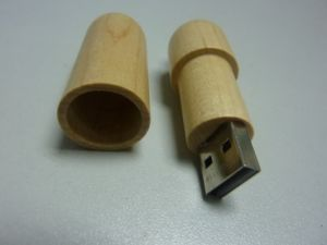 Popular Wooden USB Flash Drives USB2.0 with Customized Logo (OM-W028) pictures & photos