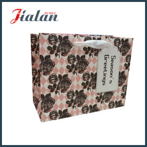 Red Dots Custom Ribbon Bow Wholesales Paper Clothes Shopping Bag pictures & photos