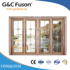 Customized Powder Coated Aluminum Sliding Doors with Double Glazing pictures & photos