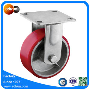 Heavy Duty Plate Casters with PU Iron Wheels pictures & photos