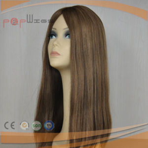 Beautiful Human Brown Color Hair Jewish Wig (PPG-l-01437) pictures & photos