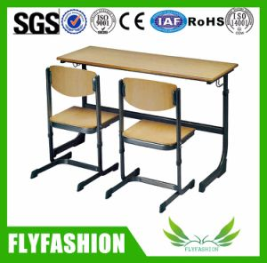 Wooden Furniture School Desk and Chair Set for Study (SF-01D) pictures & photos