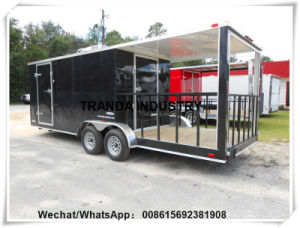 4 Wheels Mobile Van Food Caravan Made in China Qingdao pictures & photos