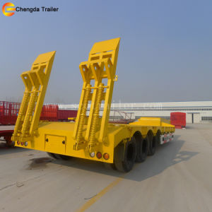 120t 4axles Low Bed Trailer pictures & photos