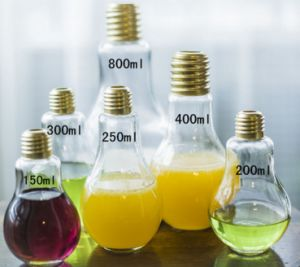 Glass Bottle with Bulb Shape. Beverage Bottle pictures & photos