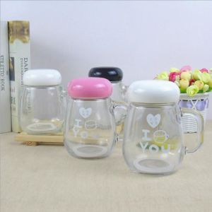 400ml Customized Glass Mason Jar with Handle pictures & photos
