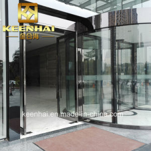 Interior Rose Golden Color Mirror Finish Stainless Steel Glass Door pictures & photos