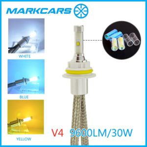 Markcars Three Color LED Car Headlight with 9600lm pictures & photos