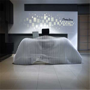 Popular Diamond Design Reception Table for Office pictures & photos