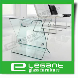 Half Moon Shaped Clear Bent Glass Sofa Table pictures & photos