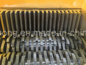 Hard Plastic Recycling Machine, Double Shaft Shredder Blades, Rubber Tire Recycle Machine pictures & photos