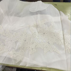 Embroidered Georgie Silk for Lady Dress Fabric pictures & photos
