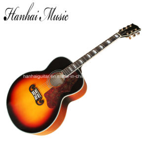 Hanhai Music / 43′′ Tobacco Sunburst Acoustic Guitar (SJ-200) pictures & photos