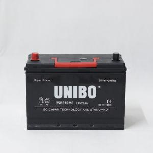 JIS Standard 75D31r Mf 12V75ah High Performance Car Battery pictures & photos