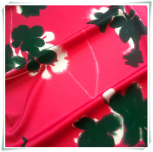 100%Polyester Chiffon Printing Fabric with Spandex pictures & photos